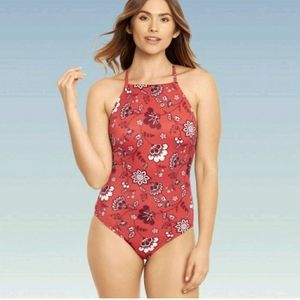 Beach Betty High-Neck Slimming Control Swimsuit